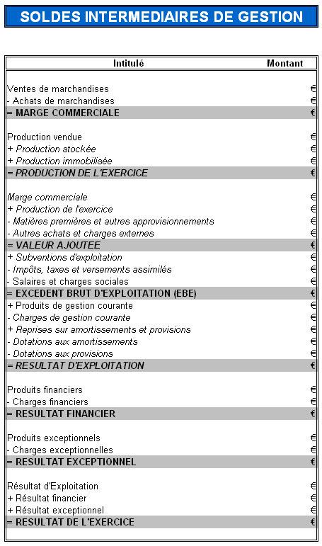 Les soldes intermédiaires de gestion (SIG)